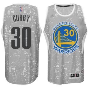 Golden State Warriors #30 Stephen Curry City Lights graue Swingman Kaufen Basketball Trikots