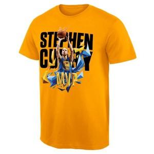 Golden State Warriors 2015 MVP Stephen Curry Exclusive Gelb T-Shirt