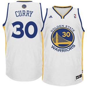 Jugend Golden State Warriors #30 Stephen Curry Revolution 30 Swingman Startseite Weiß Kaufen Basketball Trikots