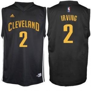 Cleveland Cavaliers #2 Kyrie Irving neue Swingman Schwarz Kaufen Basketball Trikots