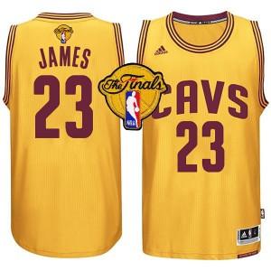 NBA 2015 Finals Cavaliers LeBron James Gold neue Swingman Kaufen Basketball Trikots