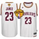NBA 2015 Finals Cavaliers LeBron James White New Swingman Jersey