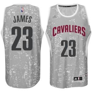 Cleveland Cavaliers #23 LeBron James City Lights graue Swingman Kaufen Basketball Trikots