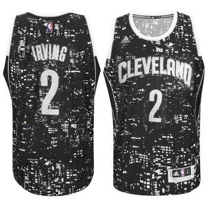 Kyrie Irving Cleveland Cavaliers #2 City Lights Schwarz Swingman Kaufen Basketball Trikots