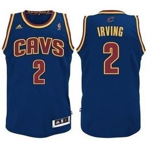 Jugend Cleveland Cavaliers #2 Kyrie Irving CavFanatic Revolution 30 Swingman Blau Kaufen Basketball Trikots
