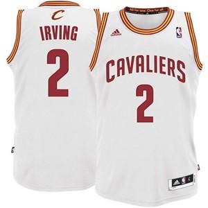 Jugend Cleveland Cavaliers #2 Kyrie Irving Revolution 30 Swingman Weiß Kaufen Basketball Trikots