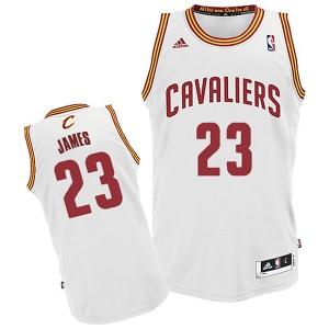 Jugend Cleveland Cavaliers #23 Lebron James Revolution 30 Swingman Startseite Weiß Kaufen Basketball Trikots