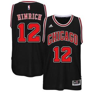 Chicago Bulls #12 Kirk Hinrich 2014-15 neue Swingman Road Schwarz Kaufen Basketball Trikots