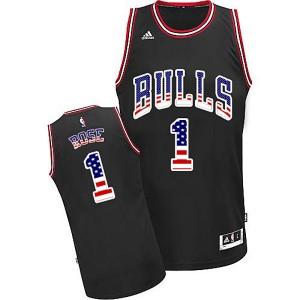 Chicago Bulls #1 Derrick Rose 2015 American flag Special Editon Kaufen Basketball Trikots