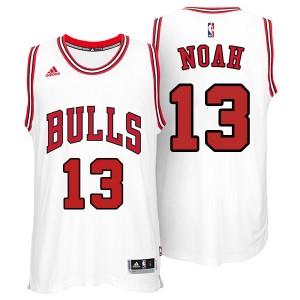 Chicago Bulls #13 Joakim Noah 2014-15 neue Swingman Weiß Kaufen Basketball Trikots