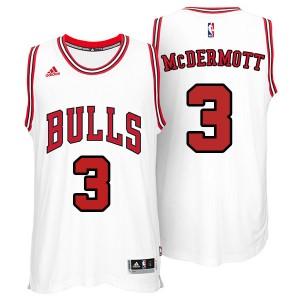 Chicago Bulls #3 Doug McDermott 2014-15 neue Swingman Weiß Kaufen Basketball Trikots