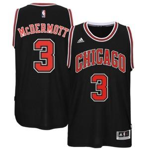 Chicago Bulls #3 Doug McDermott 2014-15 neue Swingman Road Schwarz Kaufen Basketball Trikots