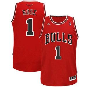 Jugend Chicago Bulls #1 Derrick Rose Revolution 30 Swingman Rot Kaufen Basketball Trikots