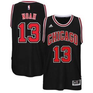 Chicago Bulls #13 Joakim Noah 2014-15 neue Swingman Road Schwarz Kaufen Basketball Trikots