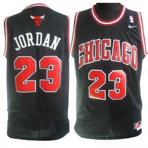 Nike Chicago Bulls #23 Michael Jordan Soul Swingman Schwarz Kaufen Basketball Trikots