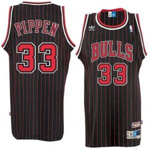 Chicago Bulls #33 Scottie Pippen Throwback Swingman Kaufen Basketball Trikots - Schwarz