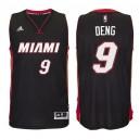 Miami Heat &9 Luol Deng New Swingman Road Black Jersey