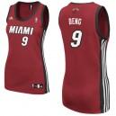 Miami Heat &9 Luol Deng Women Red Jersey