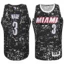 Dwyane Wade Miami Heat &3 City Lights Black Swingman Jersey