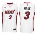 Miami Heat &3 Dwyane Wade New Swingman Home White Jersey