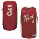 Miami Heat &3 Dwyane Wade 2015 Christmas Day Wine Jersey