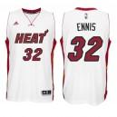 Miami Heat &32 James Ennis New Swingman Home White Jersey