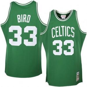 Mitchell # Ness Boston Celtics #33 Larry Bird Grün Authentic Throwback  Kaufen Basketball Trikots