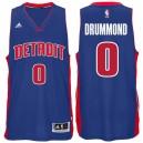 Detroit Pistons &0 Andre Drummond Road Blue Swingman climacool Jersey