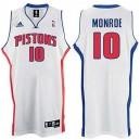 Greg Monroe &10 Detroit Pistons Revolution 30 Swingman White Jersey