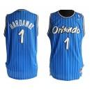 Orlando Magic &1 Anfernee Hardaway Soul Swingman Blue Stripe Jersey