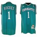 Charlotte Hornets &1 Muggsy Bogues Hardwood Classics Jersey