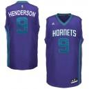 Charlotte Hornets &9 Gerald Henderson Revolution 30 Swingman Road Purple Jersey