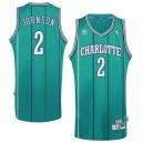 Charlotte Hornets &2 Larry Johnson Hardwood Classics Retro Jersey