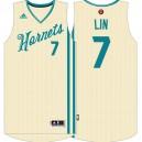 Jeremy Lin Charlotte Hornets &7 Cream White 2015 Christmas Day Swingman Jersey