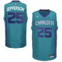 Charlotte Hornets &25 Al Jefferson Revolution 30 Swingman Alternate Teal Jersey
