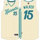 Kemba Walker Charlotte Hornets &15 Cream White 2015 Christmas Day Swingman Jersey