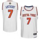 New York Knicks &7 Carmelo Anthony 2014-15 Noches Enebea Swingman Home White Jersey
