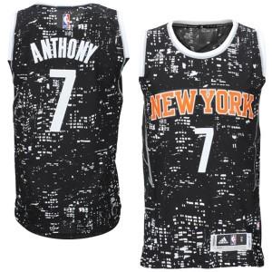 Carmelo Anthony neue York Knicks #7 Schwarz City Lights Fashion Swingman Kaufen Basketball Trikots