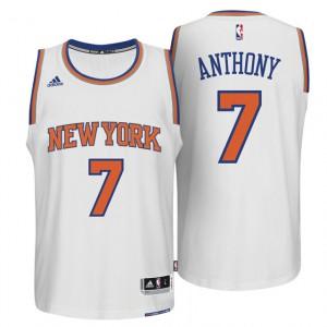neue York Knicks #7 Carmelo Anthony 2014-15 neue Swingman Startseite Weiß Kaufen Basketball Trikots