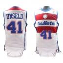 Washington Bullets &41 Westley Unseld Hardwood Classics Swingman White Jersey
