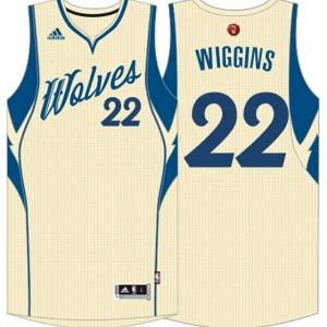 Minnesota Timberwolves #22 Andrew Wiggins Cream 2015 Weihnachten Tag Swingman Kaufen Basketball Trikots