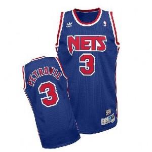 neue Kaufen Basketball Trikots Nets #3 Drazen Petrovic Soul Swingman Stitched Blau Kaufen Basketball Trikots