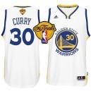 NBA 2015 Finals Warriors Stephen Curry White New Swingman Jersey