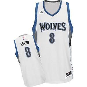 Minnesota Timberwolves #8 Zach Lavine 2014-15 neue Swingman Startseite Weiß jersey