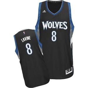 Minnesota Timberwolves #8 Zach Lavine 2014-15 neue Swingman Alternate Schwarz Trikot