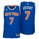 New York Knicks &7 Carmelo Anthony 2014-15 New Swingman Road Blue Jersey