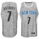 New York Knicks &7 Carmelo Anthony City Lights Gray Swingman Jersey