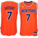 New York Knicks &7 Carmelo Anthony 2014-15 New Swingman Alternate Orange Jersey