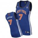 New York Knicks &7 Carmelo Anthony Women Swingman Blue Jersey