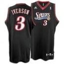 Philadelphia 76ers &3 Allen Iverson Black Soul Swingman Jersey